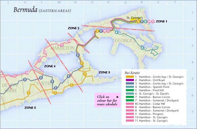 eastern bermuda bus route map