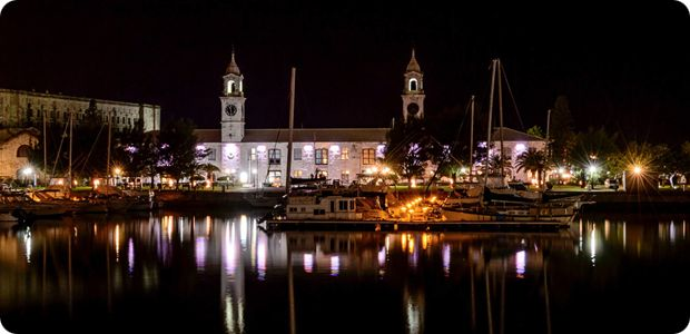 Dockyard ClockTower Night Bermuda