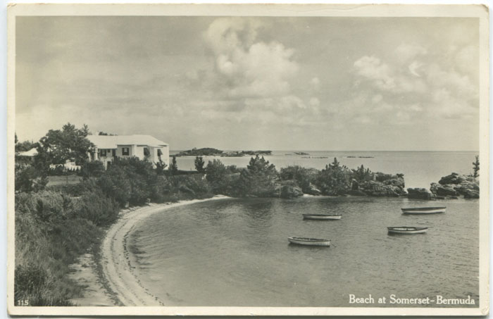 Beach at Somerset , circa 1930