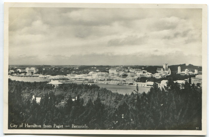 City of Hamilton from Paget, circa 1930