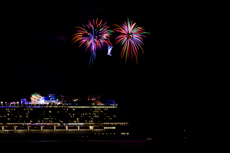 Norwegian Breakaway Cruise Fireworks In Dockyard Bermuda, July 4 2013- (1)