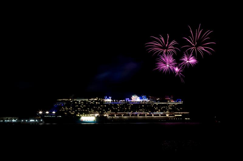 Norwegian Breakaway Cruise Fireworks In Dockyard Bermuda, July 4 2013- (2)