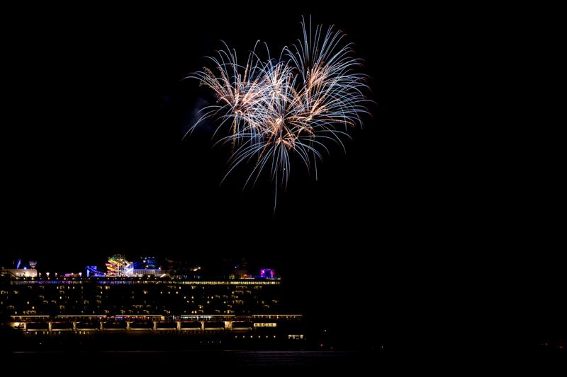 Norwegian Breakaway Cruise Fireworks In Dockyard Bermuda, July 4 2013- (6)
