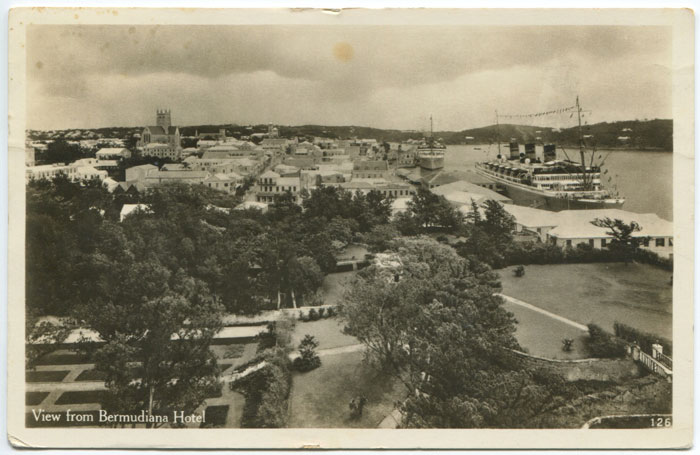 View from Bermudian Hotel, circa 1920