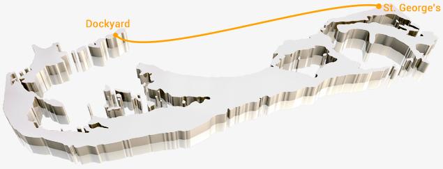 Bermuda Ferry-Map-Orange-Route