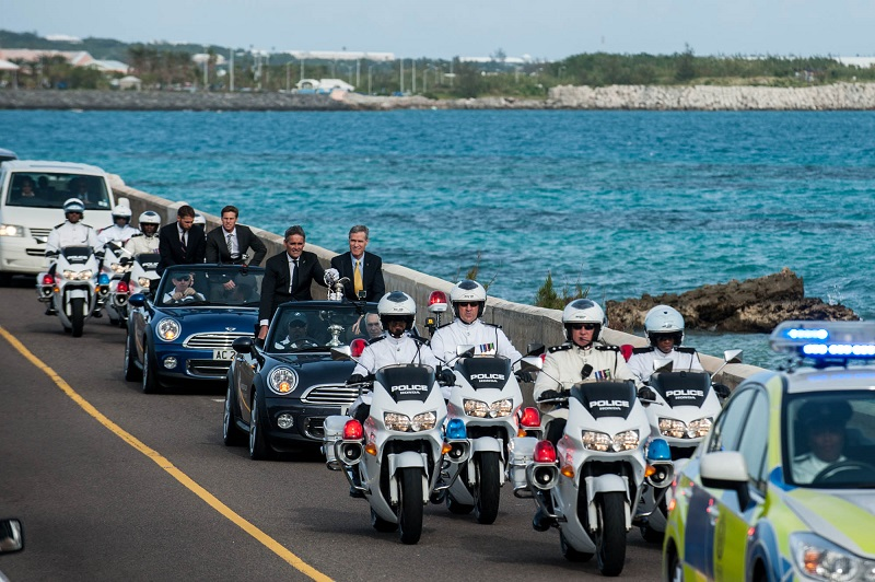 04/12/2014, Bermuda (BER), Arrival of the America's Cup Trophy in the island