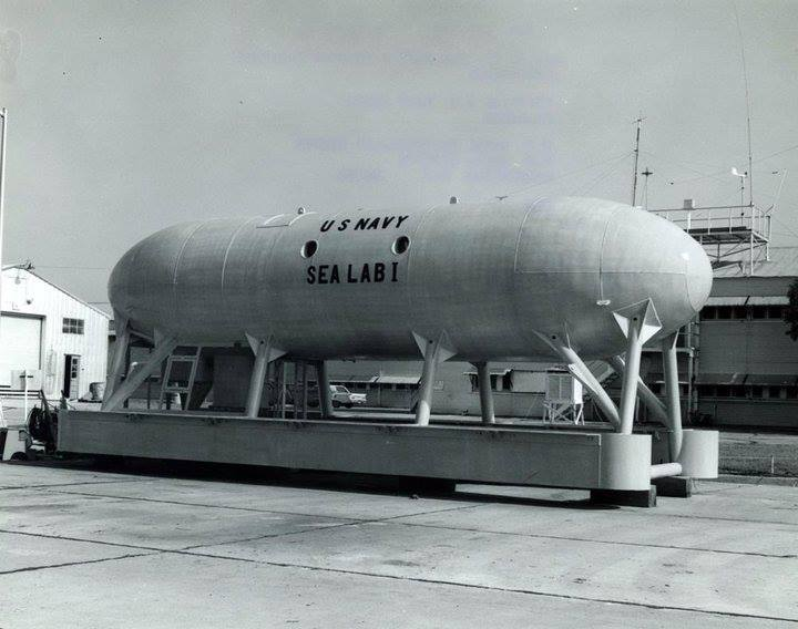 SeaLab I on land at the U.S. Naval Station in Bermuda in 1964