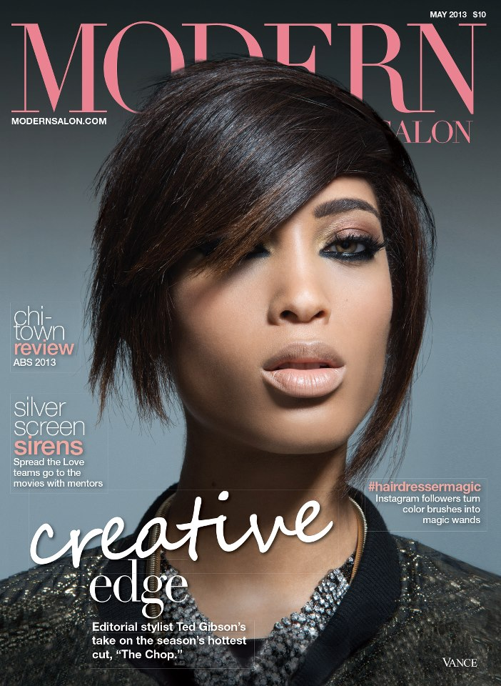 Bermudian model Lillian Lightbourn on the cover of Modern Salon Magazine