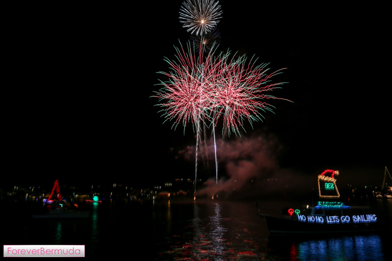 Fireworks At Christmas Boat Parade Bermuda, December 12 2015-33
