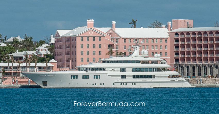 superyacht mega yacht Lady S Bermuda Hamilton Princess marina